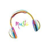 Fones de ouvido, fio e coração do grunge Fotos de Stock Royalty Free