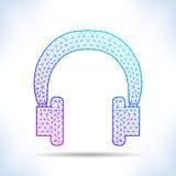 Fones de ouvido geométricos Imagens de Stock