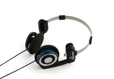 Fones de ouvido isolados no branco Foto de Stock Royalty Free
