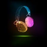 Fones de ouvido leves Fotografia de Stock Royalty Free