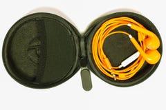 Fones de ouvido na tampa Imagem de Stock
