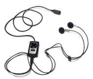 Fones de ouvido para um telefone móvel Fotos de Stock Royalty Free