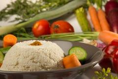 Fonio που μαγειρεύεται με τα λαχανικά Στοκ Φωτογραφία