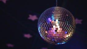 Fonkelende discobal stock videobeelden
