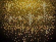 Fonkelende gouden mozaïekachtergrond Stock Fotografie