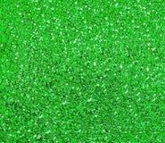 Fonkelende groene achtergrond met grote lovertjes Stock Foto's