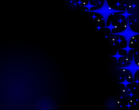 Fonkelende nachtenhemel met sterren Royalty-vrije Stock Afbeelding