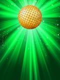 Fonkelende rode discobal. Royalty-vrije Stock Afbeeldingen