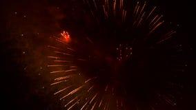 Fonkelende Vonken van Vuurwerk stock videobeelden