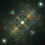 Fonkelingen in ruimte Stock Afbeelding