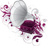 Fonografo del grammofono Fotografie Stock