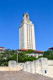 Fonolocalizadores de bocinas grandes de la torre de la Universidad de Texas UT Fotografía de archivo