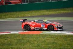 Fons Scheltema Ferrari 458 utmaning Evo på Monza Royaltyfria Bilder
