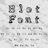 font χαρακτήρας script πηγή λεκέδων - σύγχρονη πηγή χειρογράφων ελεύθερη απεικόνιση δικαιώματος