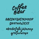font Χρωματισμένες βούρτσα επιστολές συρμένο αλφάβητο χέρι απεικόνιση αποθεμάτων