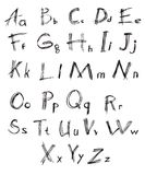 Font. A set of fonts. Manual scheduling Stock Images