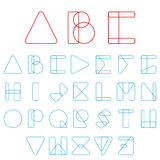 Font, ABC in geometric style. Vector Royalty Free Stock Photos