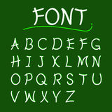 Font abcs vector modern design. Style text Royalty Free Stock Photos