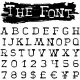 The font Stock Image