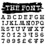 The font Royalty Free Stock Photo