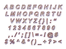 Font Alphabet. Great for high end luxury advertising like jewelry etc. complete keyboard Stock Illustration