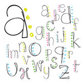 Font; alphabet; letter; lettering; script; vector; hand; brush; Royalty Free Stock Photography