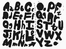 Font - Alphabet Royalty Free Stock Image