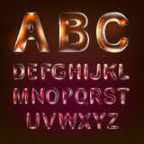 Font alphabet Stock Photography