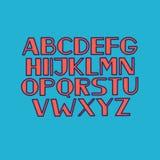 Font alphabet type uppercase letters vector illustration Stock Photo