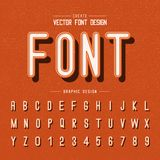 Font and alphabet vector, modern letter design and graphic text on grunge orange background. Font and alphabetical vector on background, letter and text graphic stock illustration