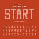 Font and alphabet vector, Point letter design and graphic style on texture orange background. Font and alphabetical vector on background, letter and text graphic vector illustration