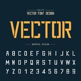 Tech Font and Graphic alphabet vector, Technology Modern Typeface and letter number design. Font and alphabetical vector on background, letter and text graphic royalty free illustration