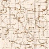 Font Antiqua. ABC Stock Photography