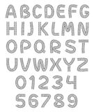 Font Automotive. Vecotr Font Automotive Full Alphabet Stock Photo
