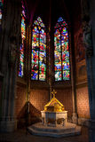 Font Baptistery , Votive church, Vienna, Austria Stock Photos