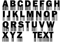 Font with barcode Stock Photo