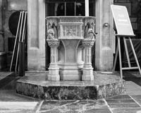 Font in Bath Abbey Royalty Free Stock Photo