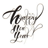 Font Black. Happy 2019 New Year. Holiday Vector Illustration Wit royalty free illustration