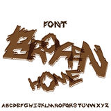Font broken home Royalty Free Stock Image