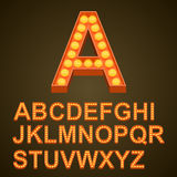 Font bulbs art sign abc Stock Photo