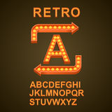Font bulbs art sign abc Royalty Free Stock Photography