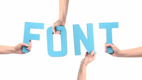 Font Stock Image