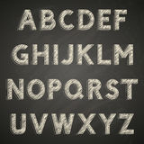 Font on chalkboard Stock Photos