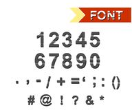 The font characters Royalty Free Stock Images