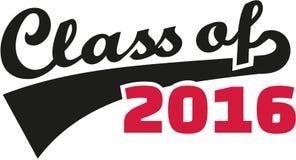 Font - Class of 2016. Slogan vector stock illustration