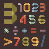 Font from colored scotch tape - Arabic numerals. This is file of EPS8 format stock illustration
