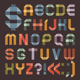 Font from colored scotch tape -  Roman alphabet Royalty Free Stock Photo