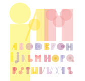 Font from colorful geometric figures Stock Photography
