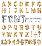 Font consisting of the Latin alphabet and digits Royalty Free Stock Photography