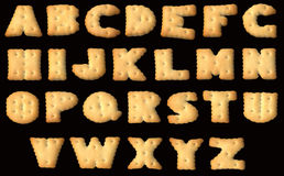 Font of cracker biscuits Stock Image